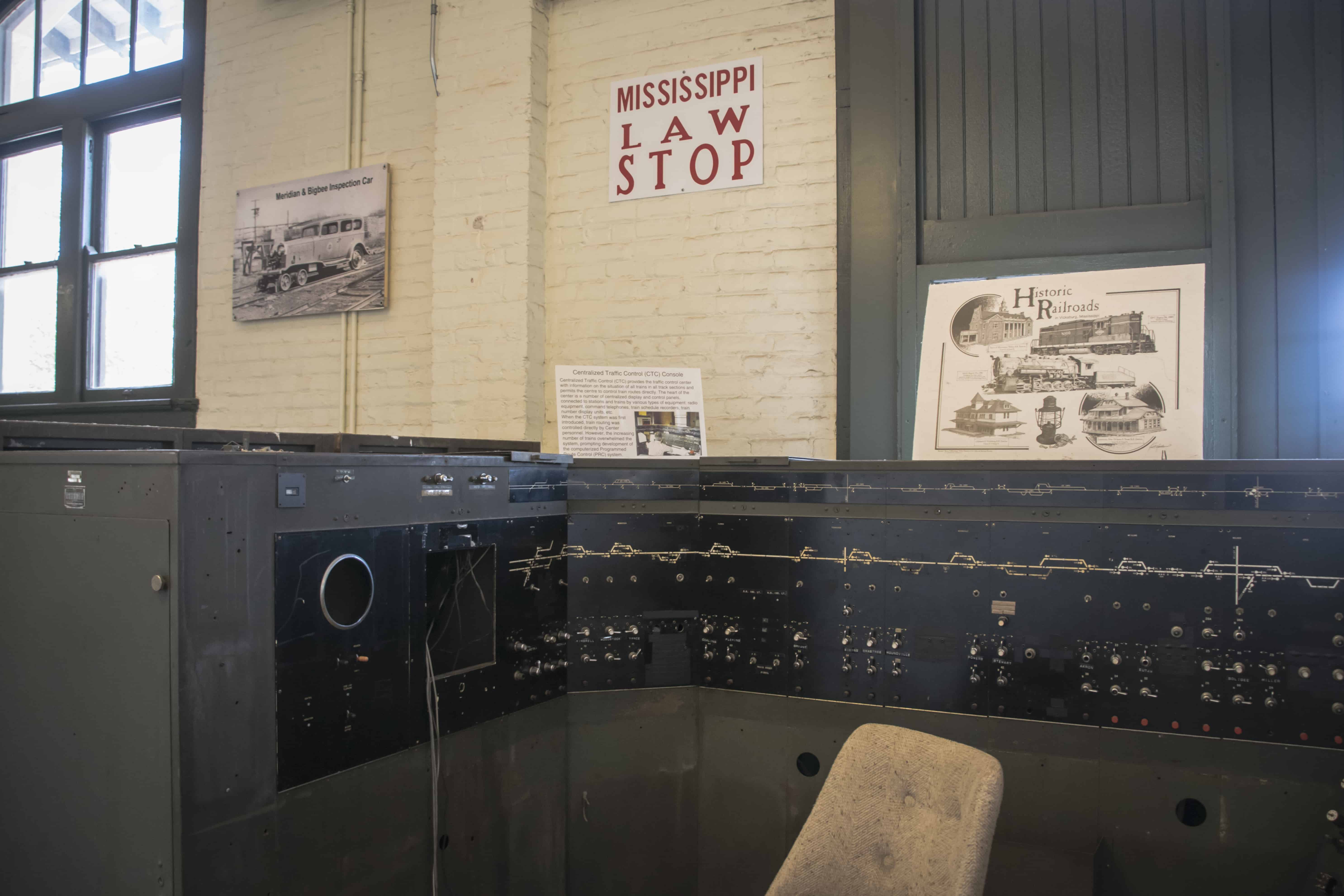 Meridian Railroad Museum-Control Console