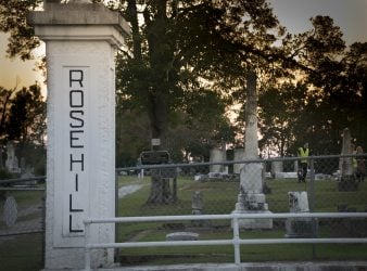 Meridian Roundup-Entry to Rose Hill Cemetery