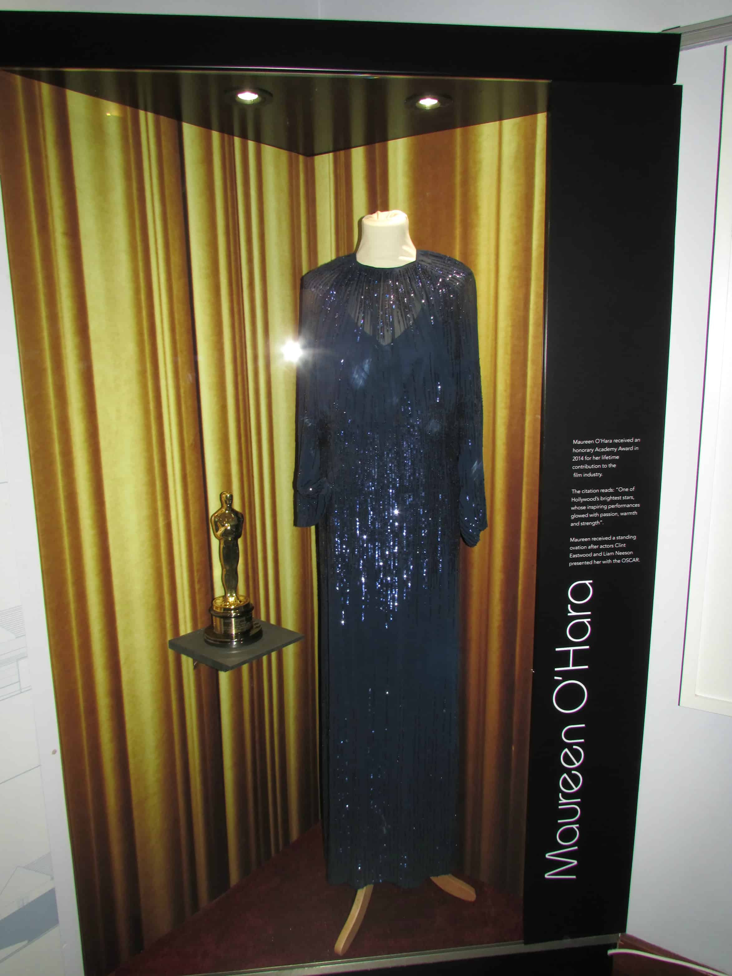 Maureen O'Hara's Oscar Gown and Award