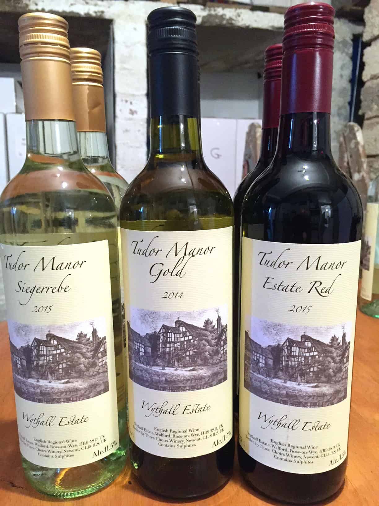 Tudor Manor wines from Wythall Vineyards, Ross-on-Wye England