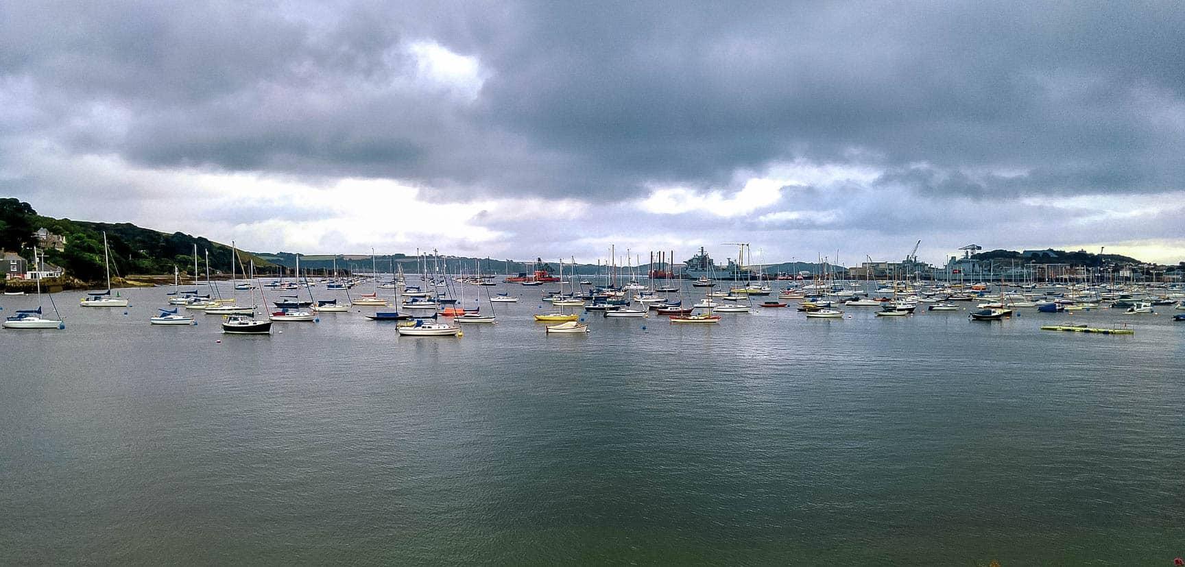 Falmouth Harbor Cornwall England