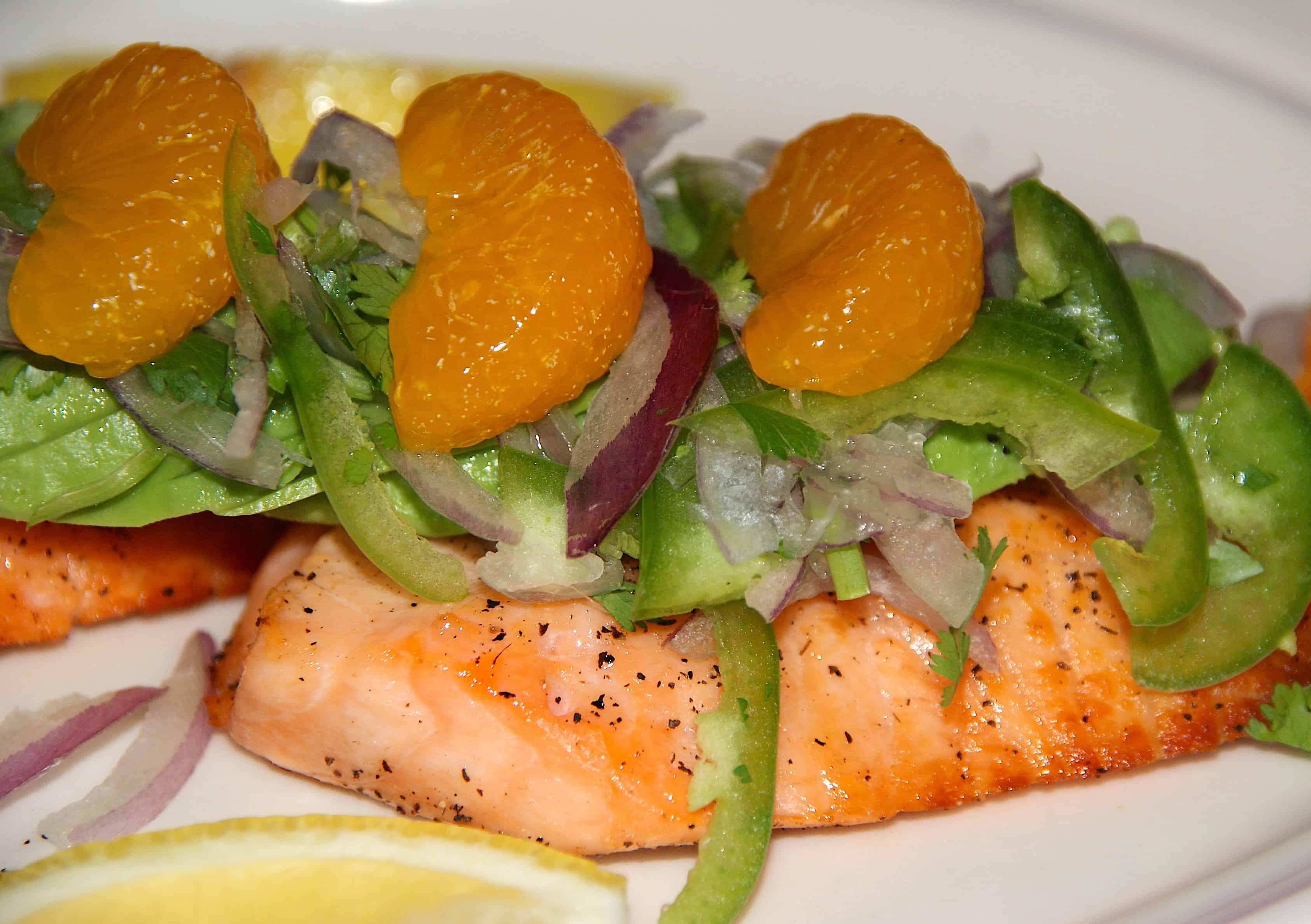Izakaya Mew Orange Salmon Midtown Manhattan