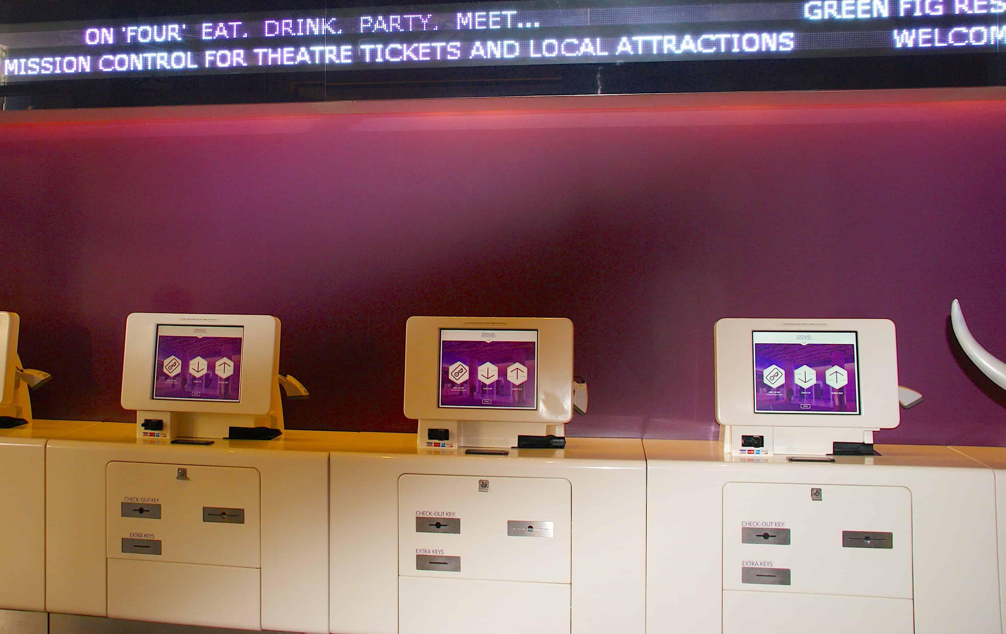 YOTEL Midtown Manhattan Check-in Kiosk