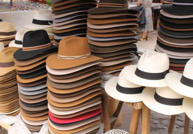 Panama Hats in the Otovalo Market - Ecuador Travel