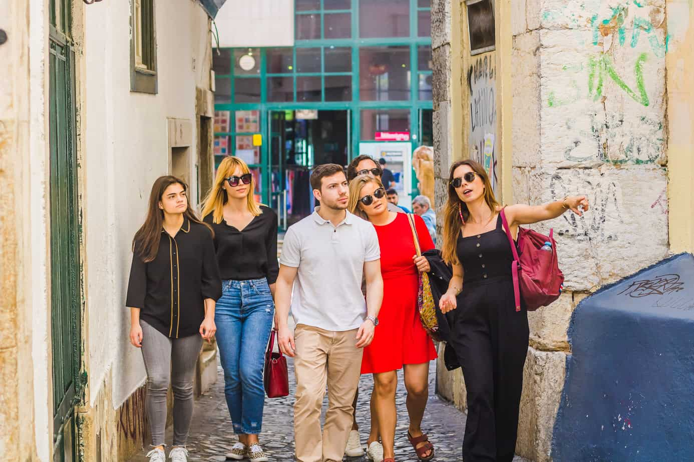 Lisbon - Guests Walking Through Mouraria on Eating Europe Tours