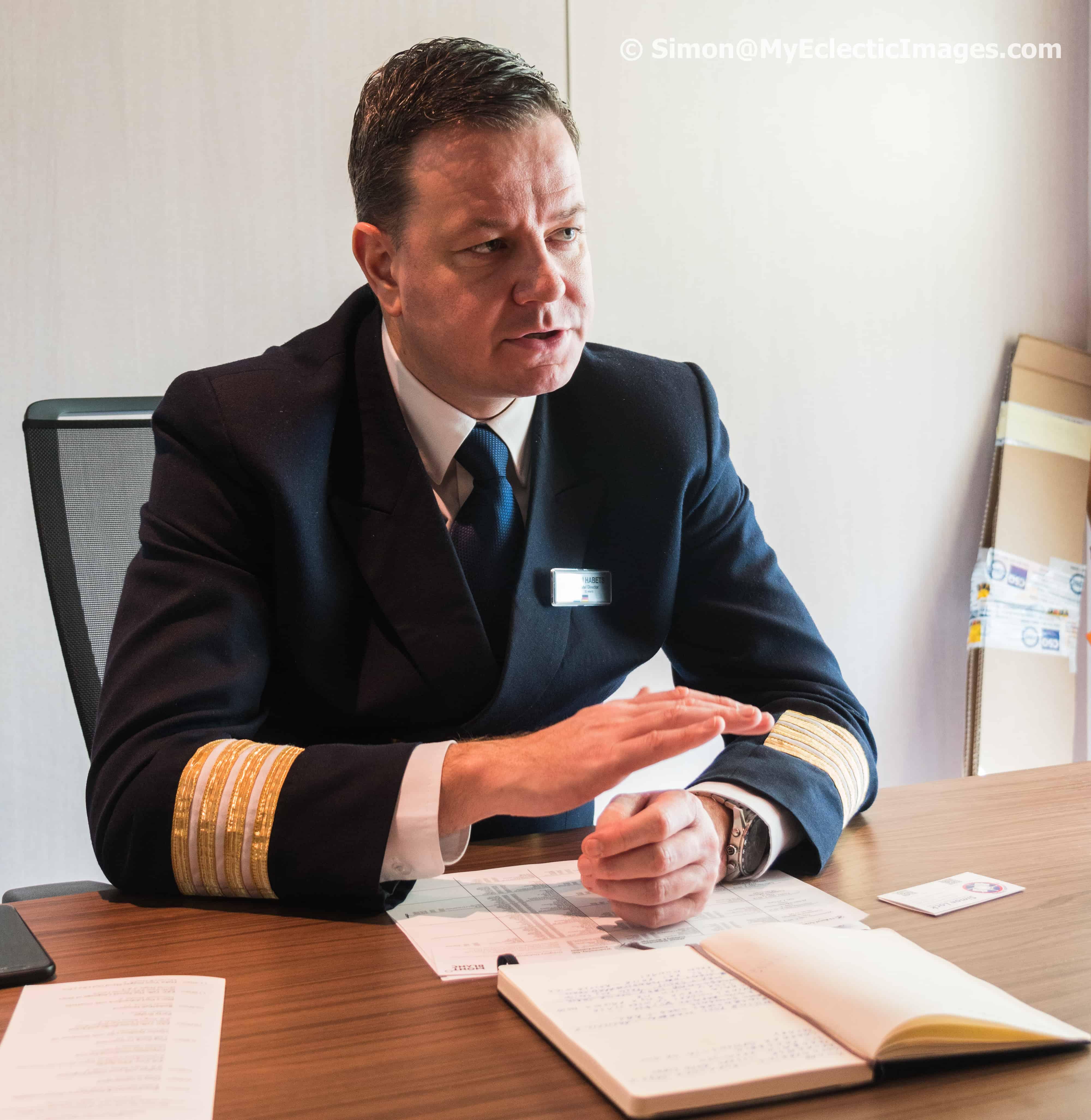 Don Habets, Hotel Director Aboard the Nieuw Statendam