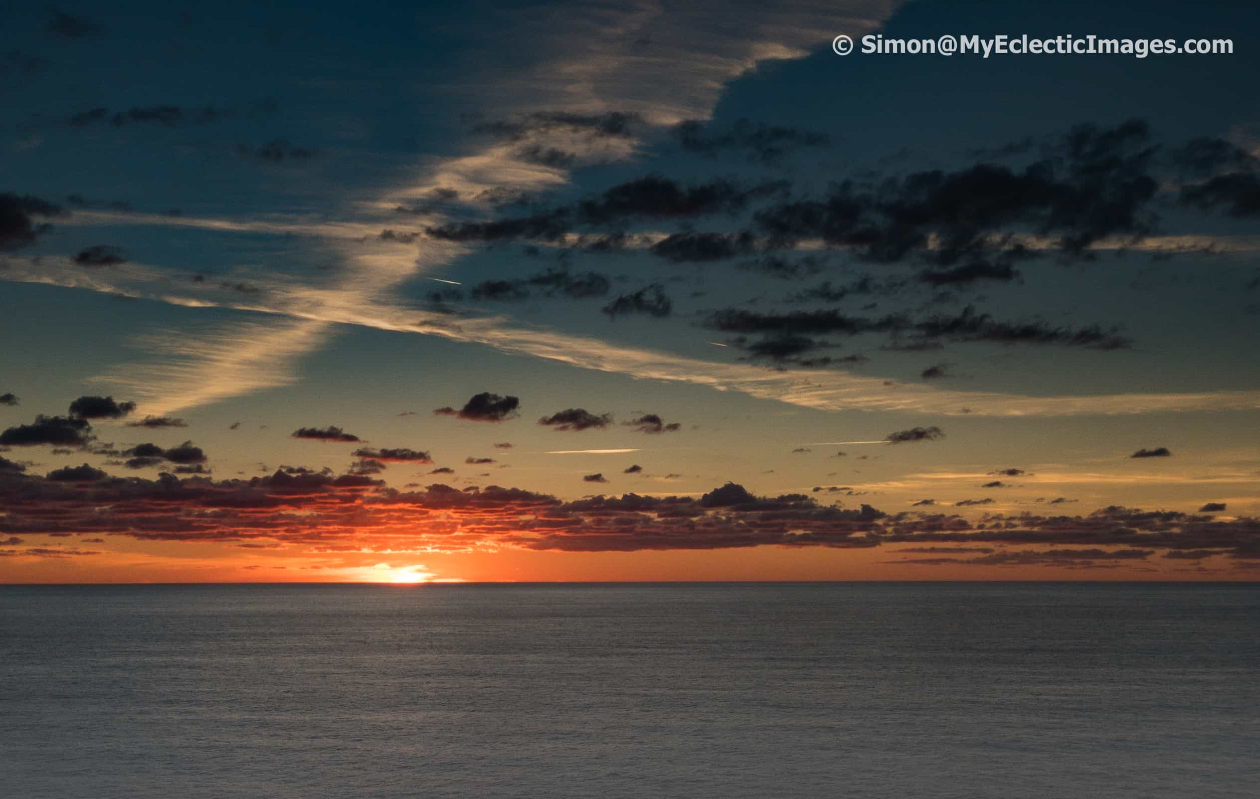 Nieuw Statendam Mid-Atlantic Calm Seas and Beautiful Sunset on a Repositioning Cruise
