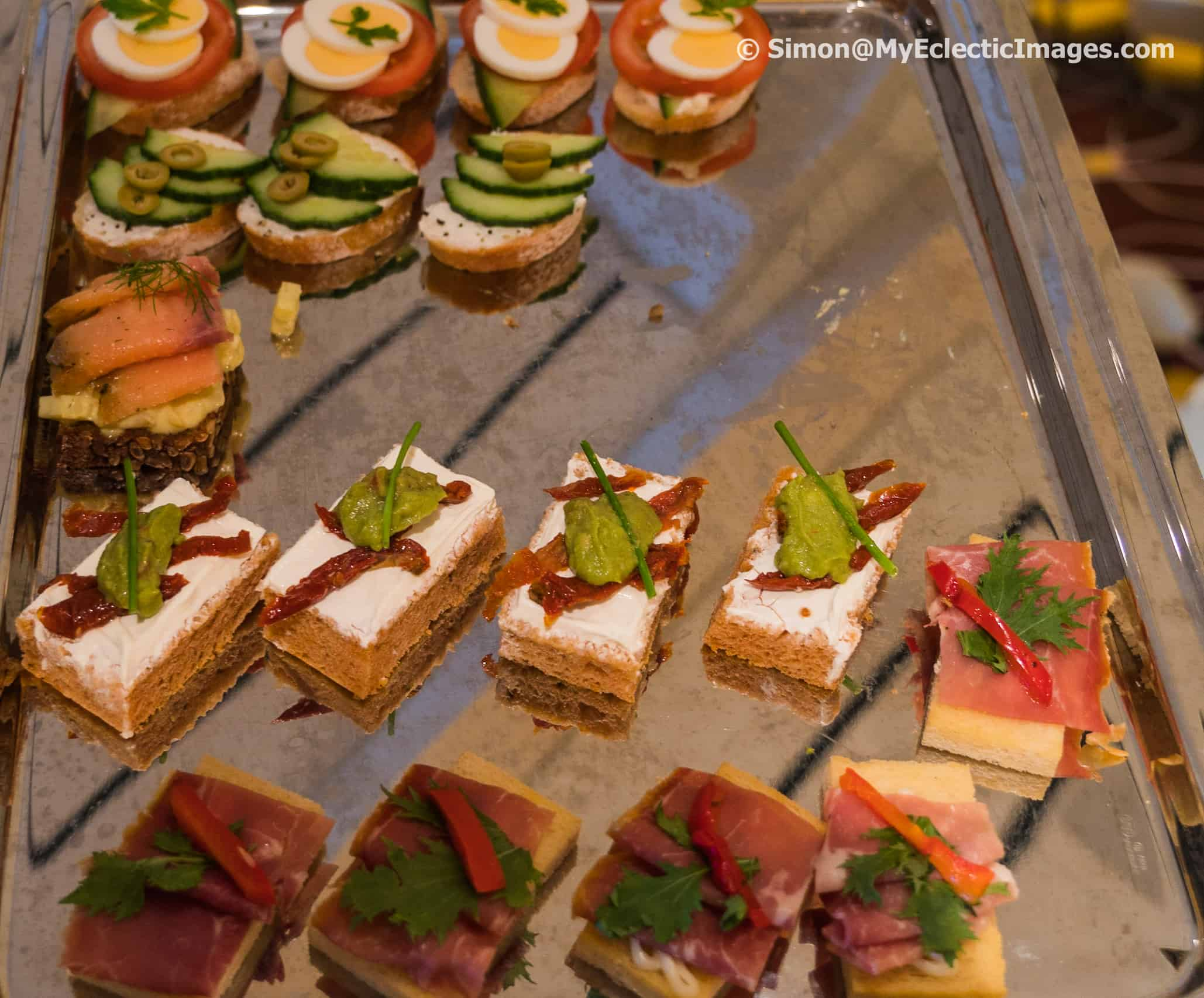 Sandwiches Served for Afternoon Tea Aboard the Nieuw Statendam