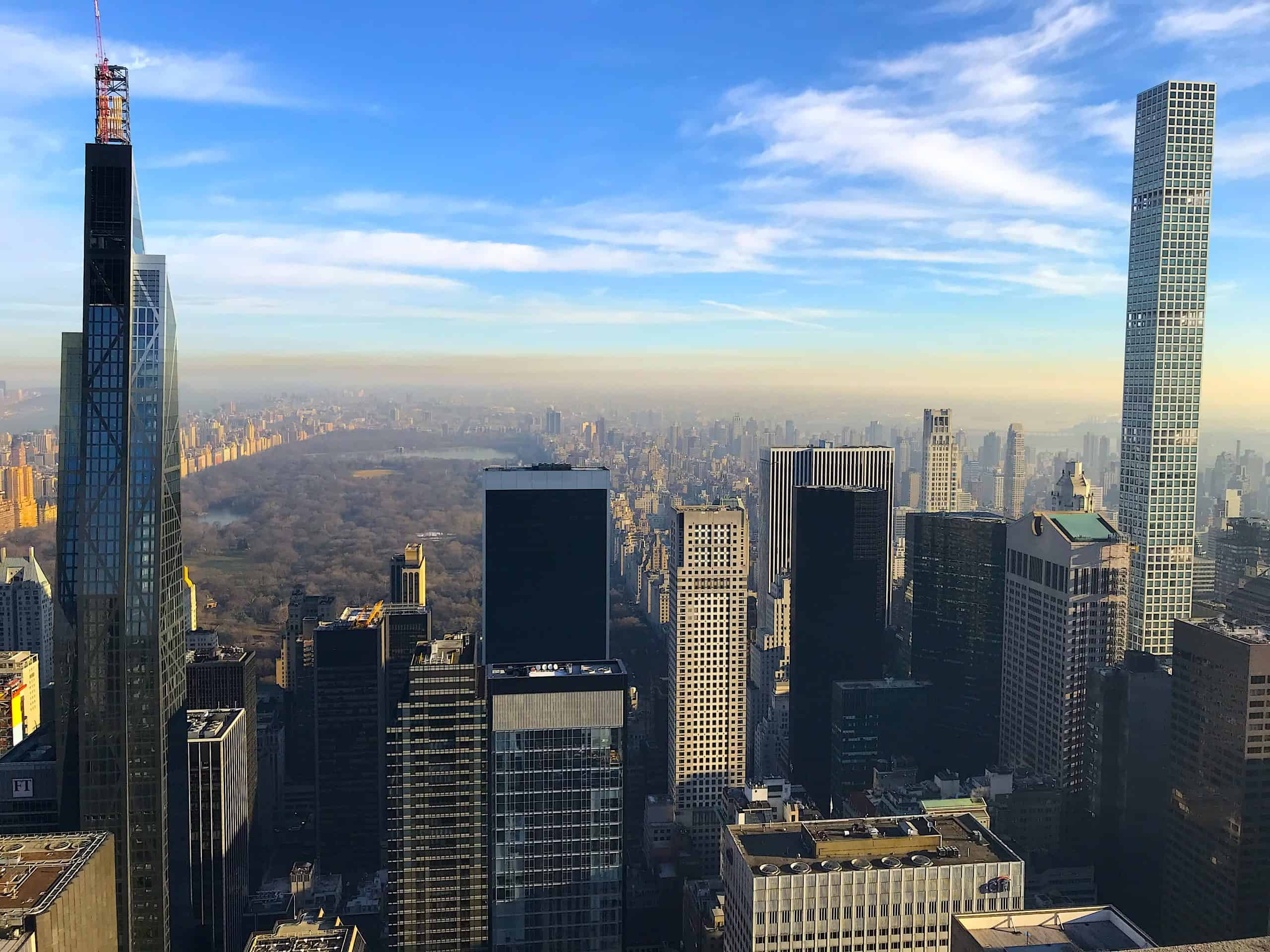Top of the Rock Central Park Midtown Manhattan
